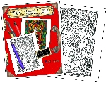 WHOLESALE -Stained Glass Christmas Coloring Portfolio