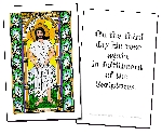 Resurrected Jesus Holy Cards (32)