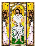Resurrected Jesus 6x9 Window Cling