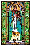 Stained Glass Saint Patrick Window Cling