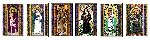 Stained Glass Saints of Lent Window Cling Set