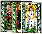 Stained Glass Saints for April Mini-Posters