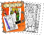 WHOLESALE -Stained Glass Prayers in English Coloring Portfolio