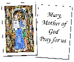 Mary, Mother of God Holy Cards (32)