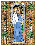 Mary, Mother of God 6x9 Window Cling