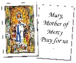 Mary, Mother of Mercy Holy Cards (32)