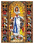 Mary, Mother of Mercy 6x9 Window Cling