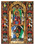 Our Lady of Czestochowa 6x9 Window Cling