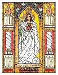 Our Lady of America 6x9 Window Cling