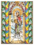 Our Lady of China 6x9 Window Cling