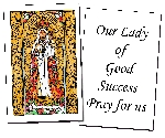 Our Lady of Good Success  Holy Cards (32)
