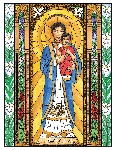 Our Lady of La Vang 6x9 Window Cling
