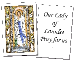 Our Lady of Lourdes Holy Cards (32)