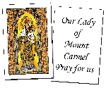 Our Lady of Mount Carmel Holy Cards (32)