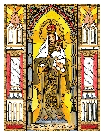 Our Lady of Mount Carmel 6x9 Window Cling