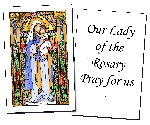 Our Lady of the Rosary Holy Cards (32)