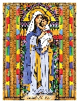 Our Lady of the Rosary 6x9 Window Cling
