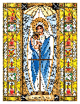 Our Lady of the Snows 6x9 Window Cling