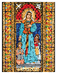 Our Lady of Walsingham 6x9 Window Cling