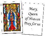 Mary, Queen of Heaven Holy Cards (32)