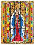 Mary, Queen of Heaven 6x9 Window Cling