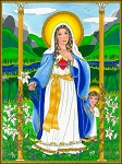 Immaculate heart of Mary Fine Art Print 11 X 14
