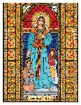 Saint Angela Merici 6x9 Window Cling