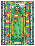 Saint Blath 6x9 Window Cling