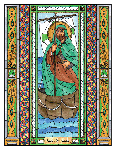 Saint Brendan 6x9 Window Cling