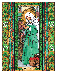 Saint Brigid 6x9 Window Cling