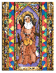 Saint Catherine of Bologna 6x9 Window Cling