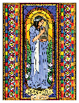 Saint Cecilia 6x9 Window Cling
