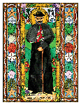 Saint Damien of Molokai 6x9 Window Cling