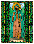 Saint Declan of Ardmore 6x9 Window Cling