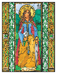 Saint Dymphna 6x9 Window Cling
