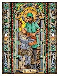 Saint Eligius 6x9 Window Cling