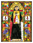 Saint Faustina 6x9 Window Cling