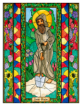 Saint Fiacre 6x9 Window Cling