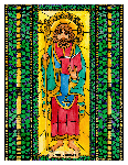 Saint Finnian 6x9 Window Cling