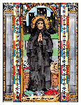 Saint Frances Xavier Cabrini 6x9 Window Cling