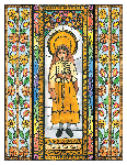 Saint Jucinta Marto 6x9 Window Cling