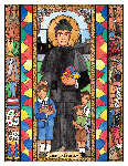 Saint John Bosco 6x9 Window Cling