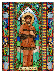 Saint John LaLande 6x9 Window Cling