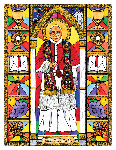 Saint John XXIII 6x9 Window Cling