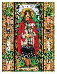 Saint Kateri Tekakwitha 6x9 Window Cling