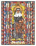 Saint Katharine Drexel 6x9 Window Cling
