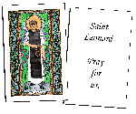 Saint Leonard  Holy Cards (32)