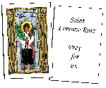 Saint Lorenzo Ruiz  Holy Cards (32)