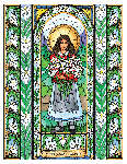 Saint Maria Goretti 6x9 Window Cling