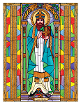 Saint Patrick 6x9 Window Cling